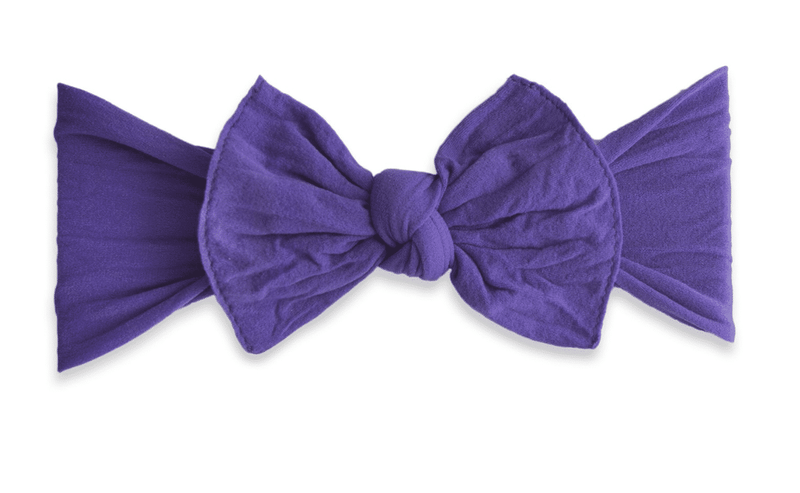 Baby Bling Solid Knot Headband Ultra Violet