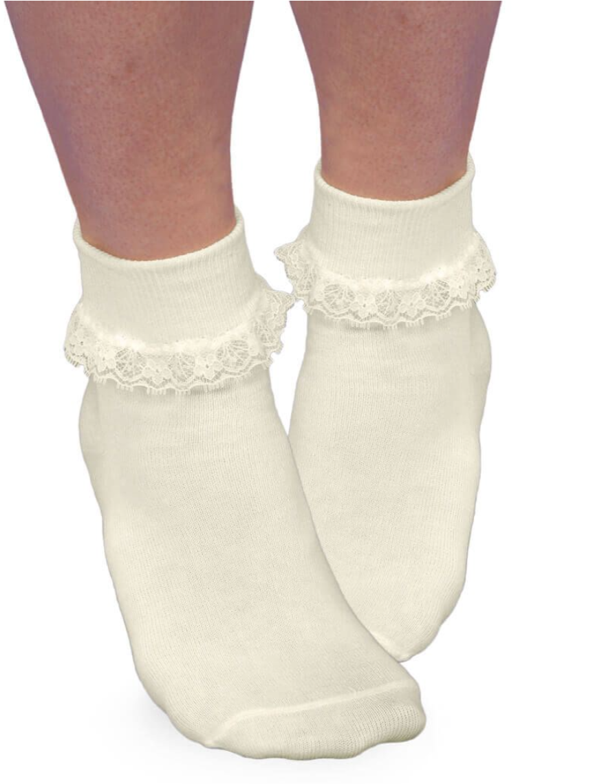 Jefferies Ruffle Lace Sock