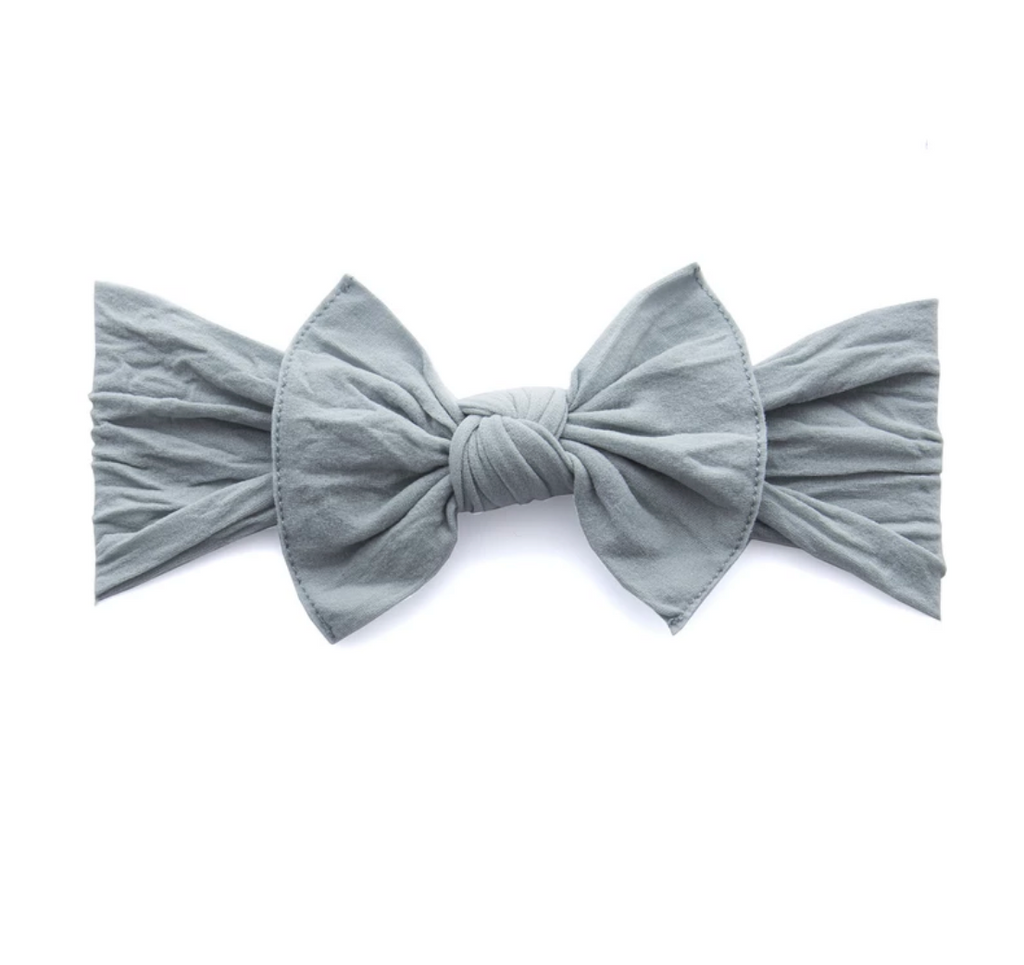 Baby Bling Solid Knot Headband Grey