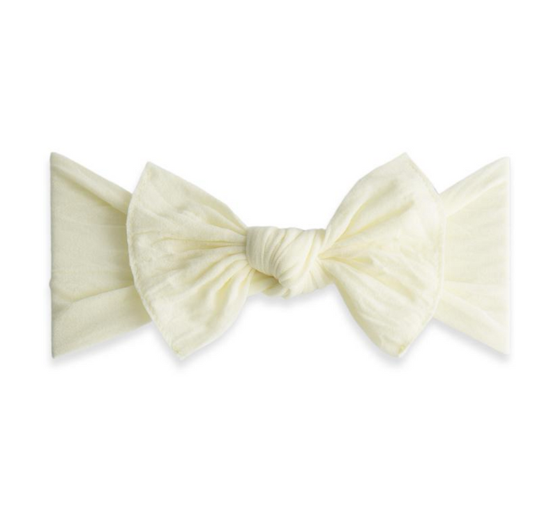 Baby Bling Solid Knot Headband Ivory