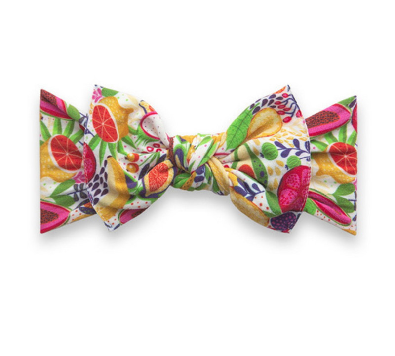 Baby Bling Printed Knot Headband Avocado Fruit