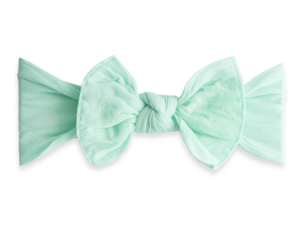 Baby Bling Solid Knot Headband Mint