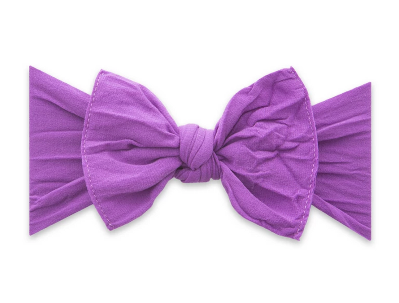 Baby Bling Solid Knot Headband  Grape