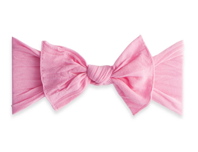 Baby Bling Solid Knot Headband Bubblegum