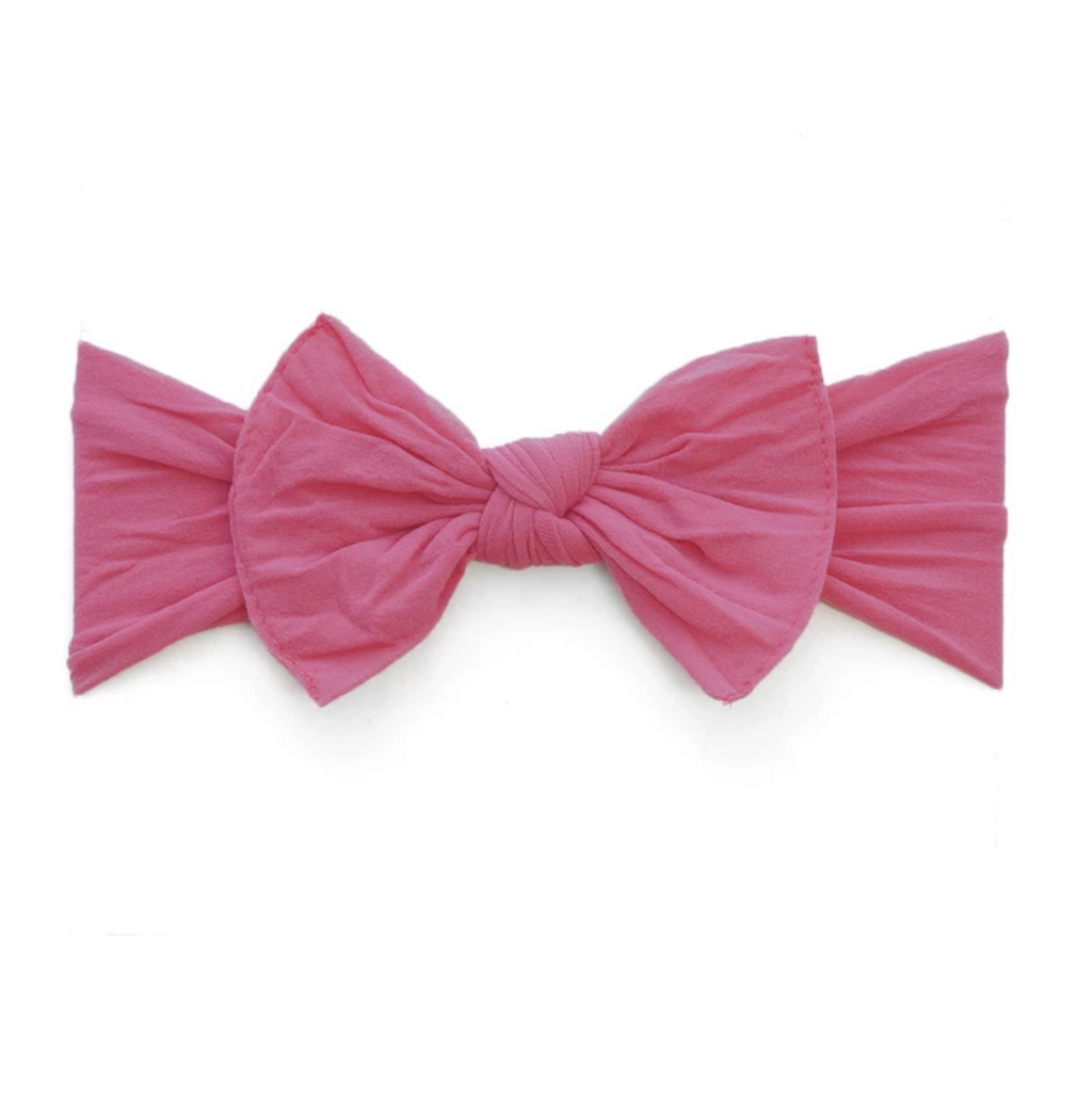 Baby Bling Solid Knot Headband Hot Pink