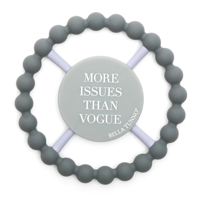 Bella Tunno Teether More Issues than Vogue, Grey