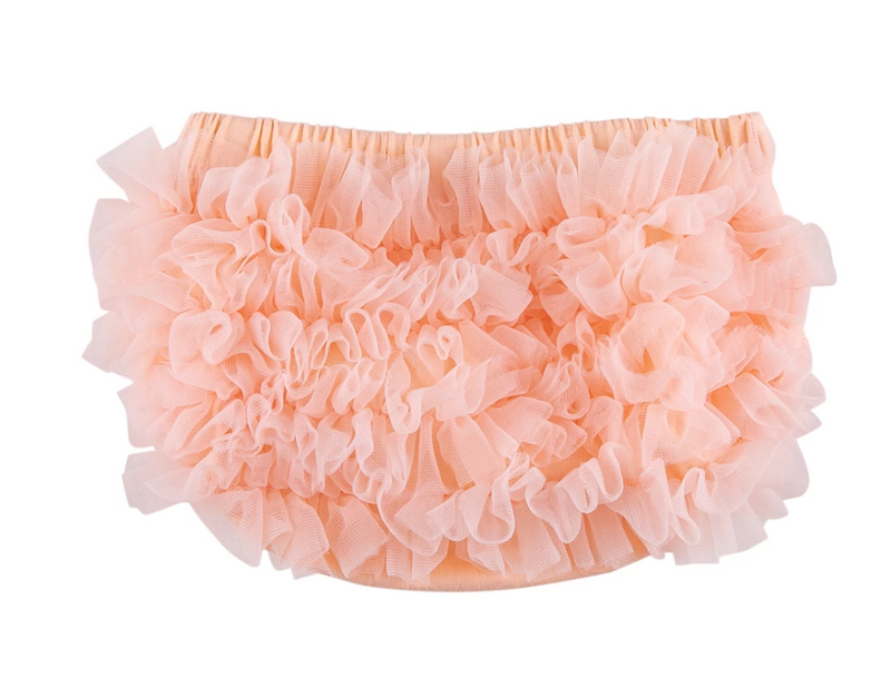 Mila & Rose Ruffle Bum Bloomer Peach, 0-3m