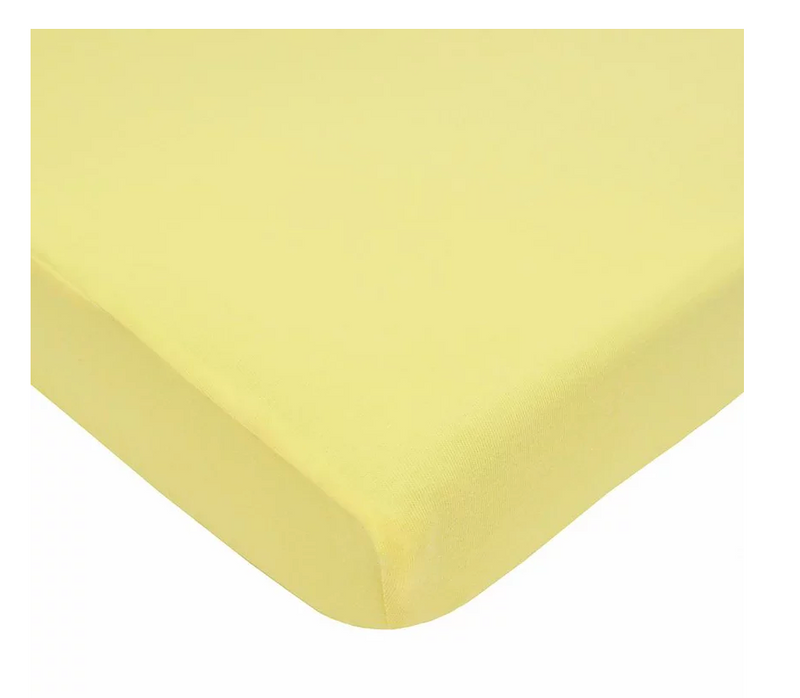 American Baby Company Jersey Crib Sheet, Maize