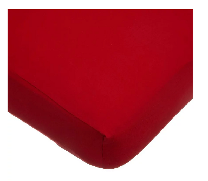 ABC Jersey Crib Sheet, Red