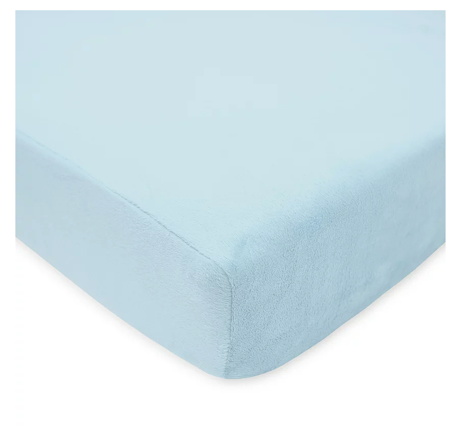 American Baby Company Chenille Crib Sheet, Blue
