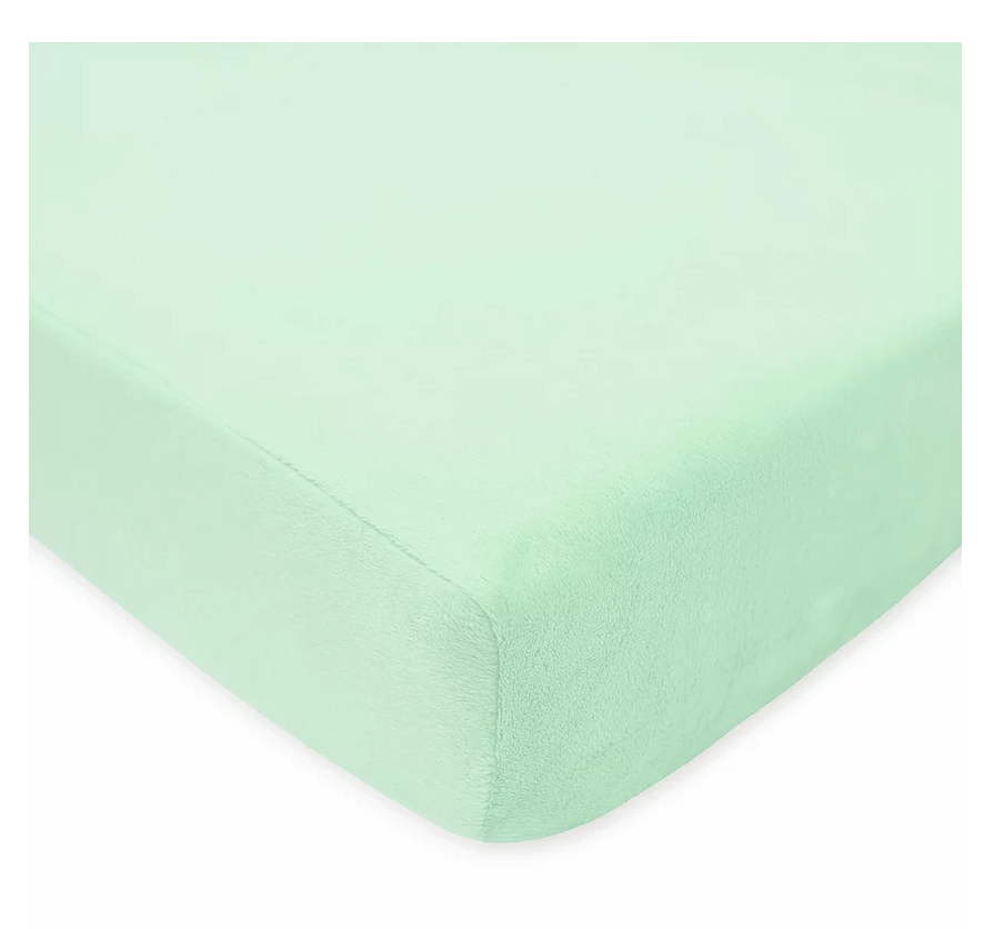 American Baby Company Chenille Crib Sheet, Mint