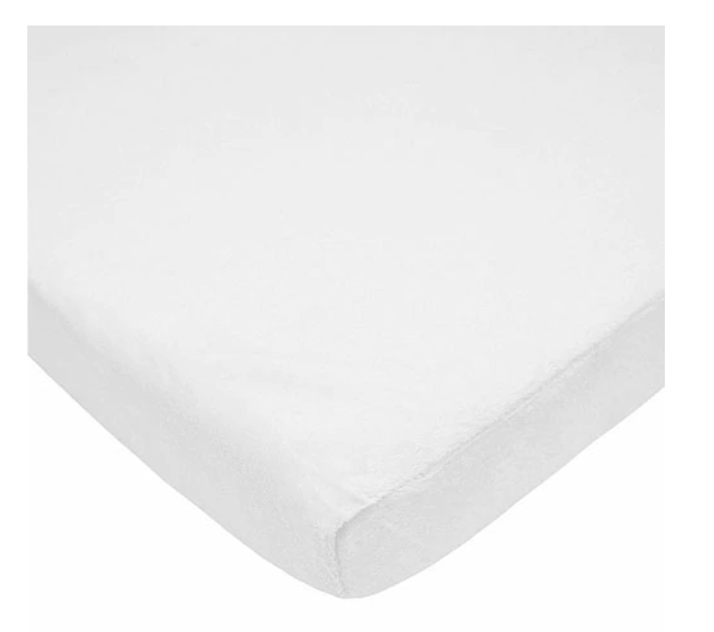 ABC Chenille Crib Sheet, White