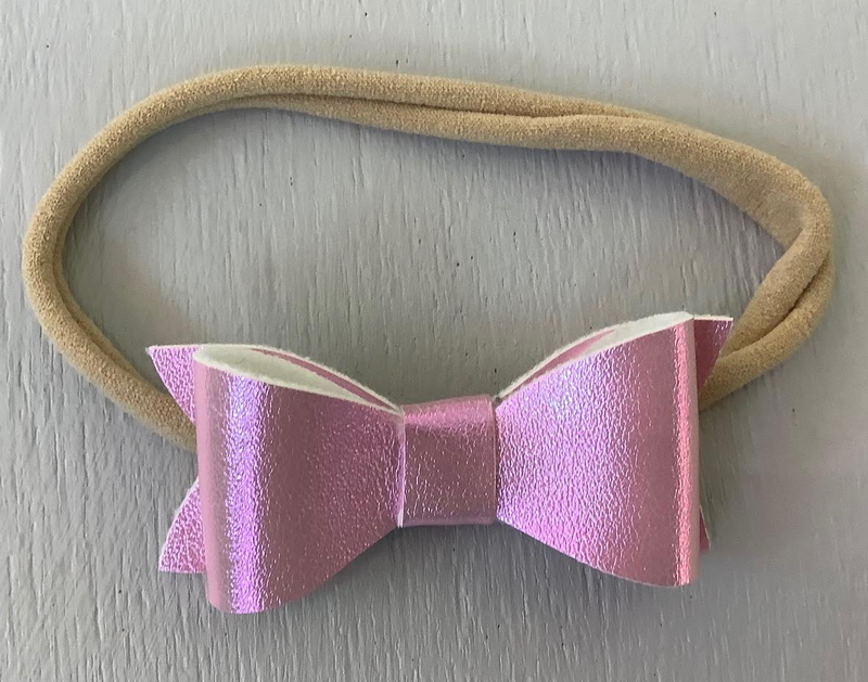 "2"" Infant Bow Pearlized, Pink"