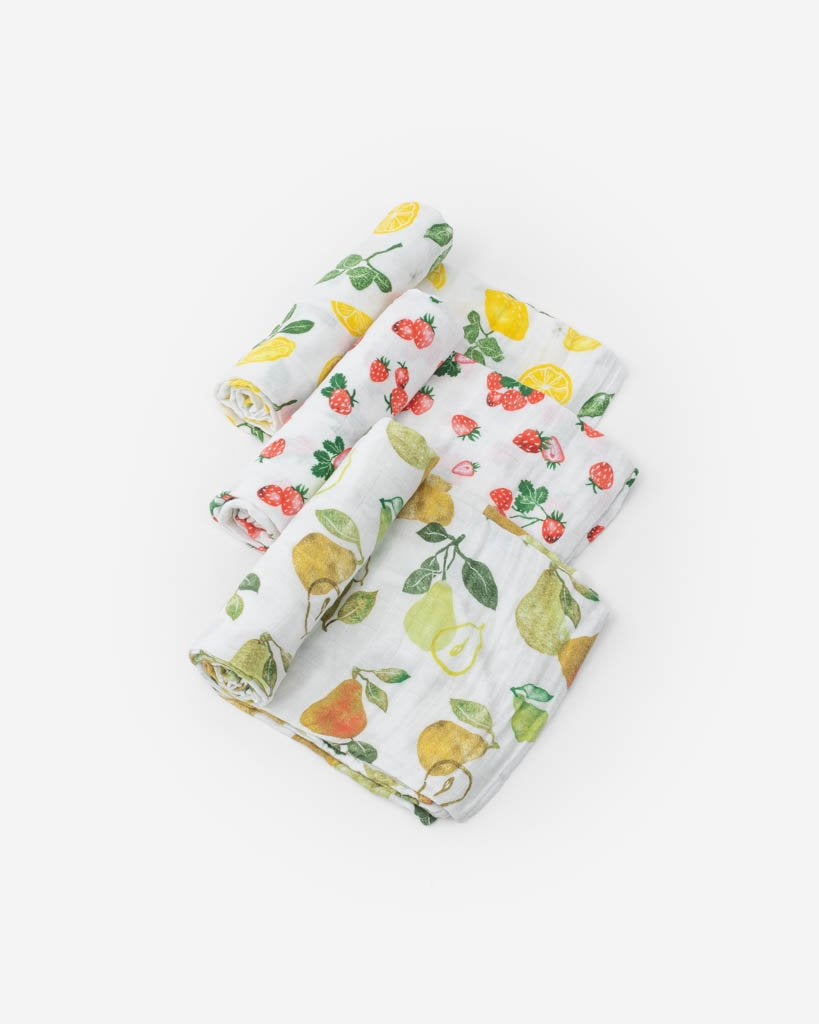 Little Unicorn Cotton Muslin Swaddle 3 Pack Fruit Stand
