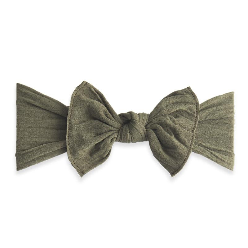 Baby Bling Solid Knot Army Green