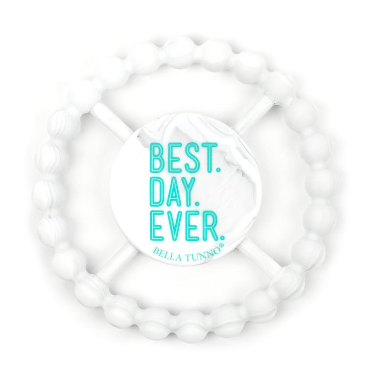 Bella Tunno Teether Best Day, White Marble