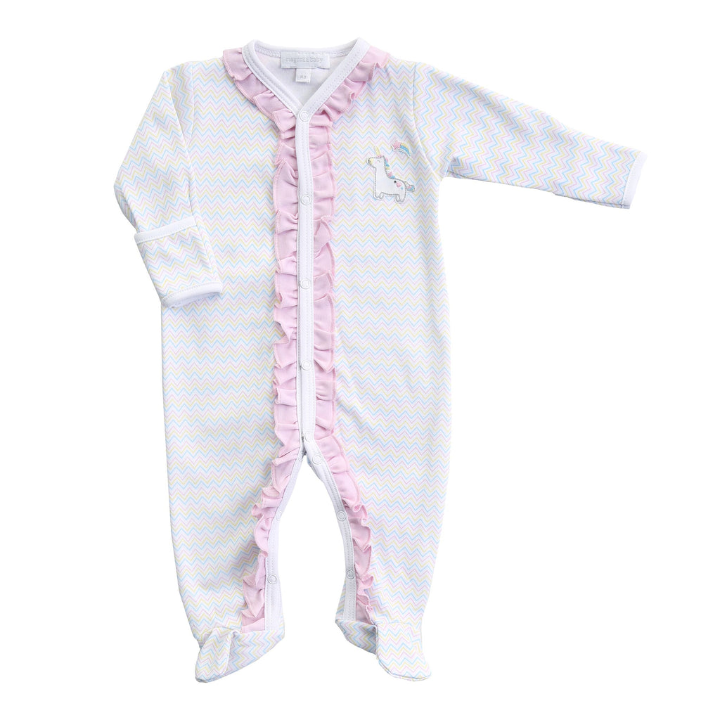 Magnolia Baby Sweet Unicorn Stripe Footie