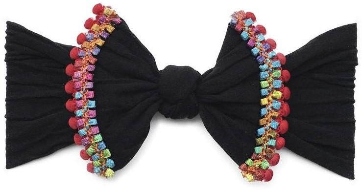 Baby Bling Printed Knot Headband Black Cinco