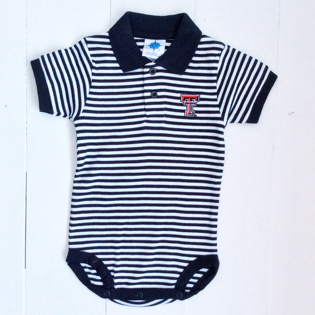 Texas Tech Striped Polo Bodysuit