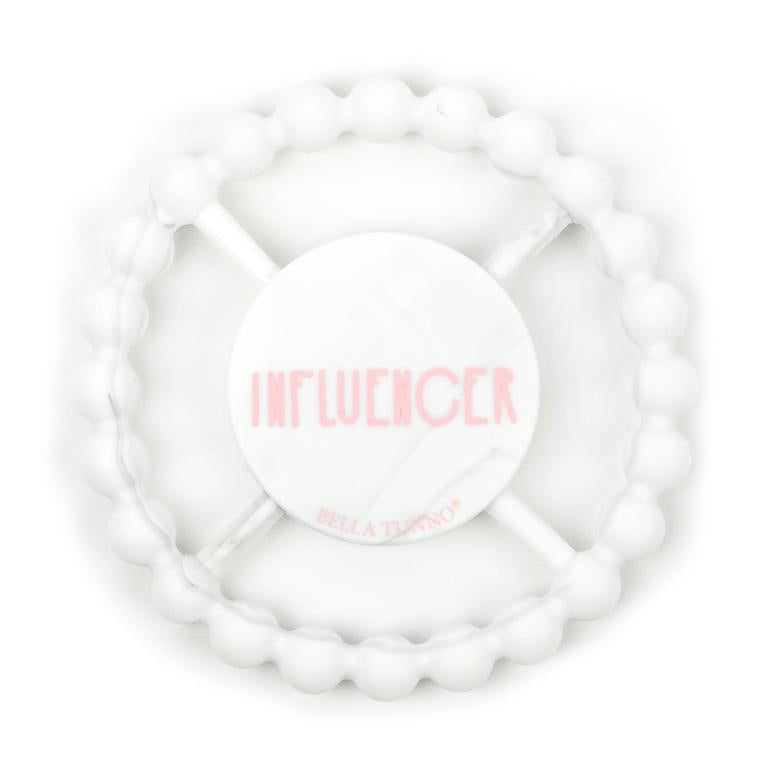 Bella Tunno Teether Influencer, White Marble