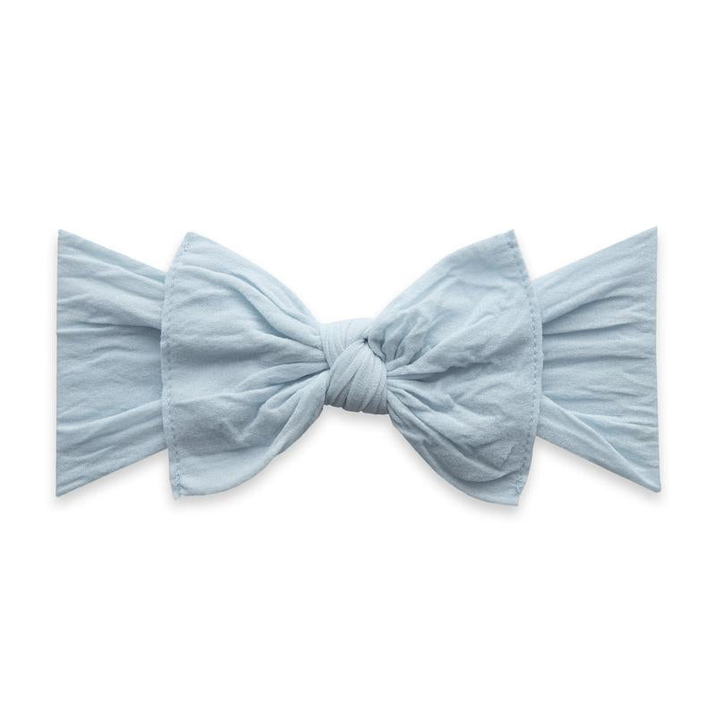 Baby Bling Solid Knot Headband Chambray