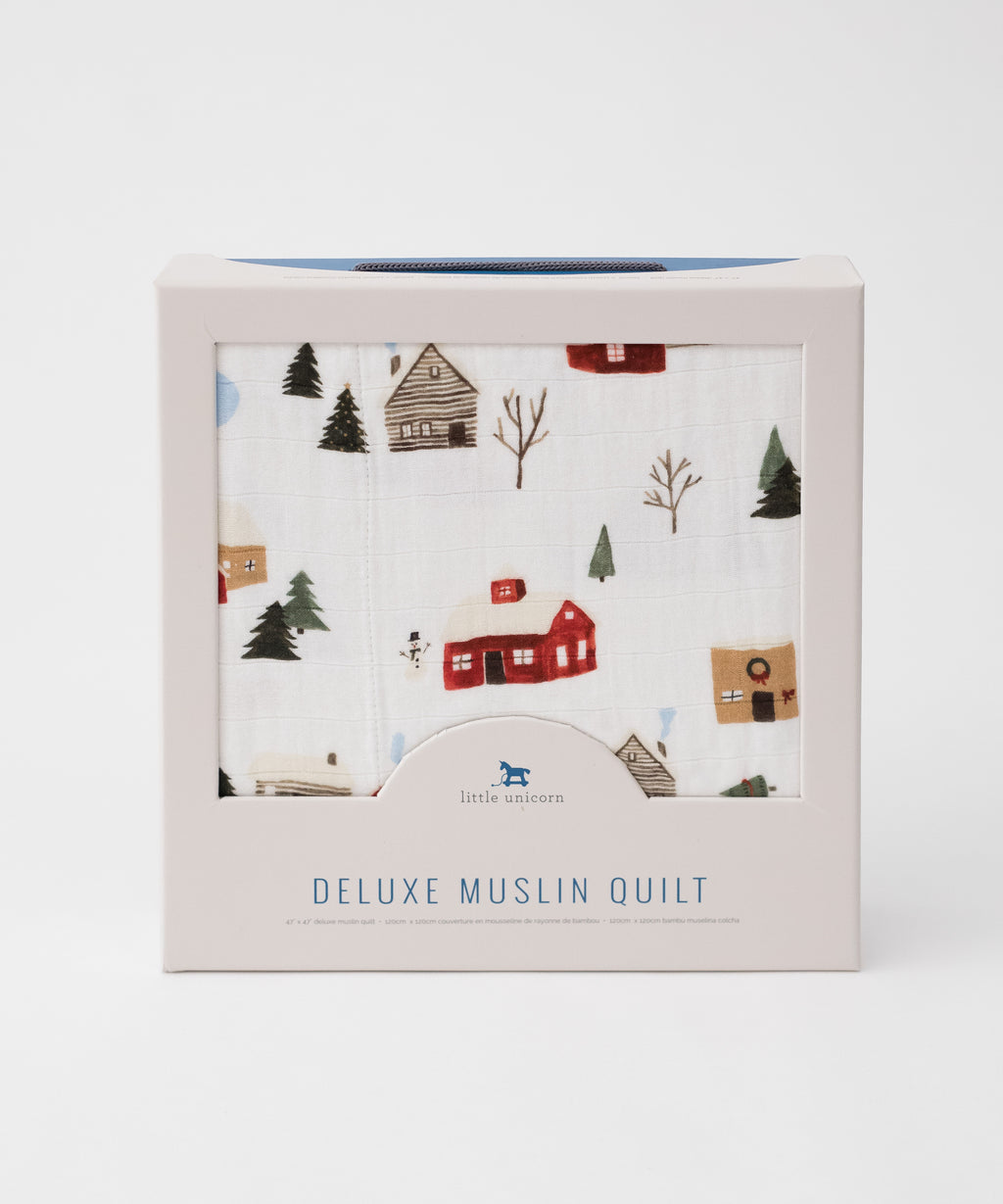 Little Unicorn Deluxe Muslin Quilt Winter Village