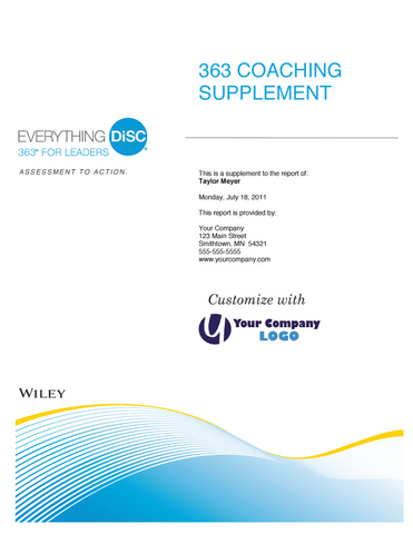 Everything DiSC 363 for Leaders Coaching Supplement