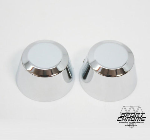 chrome harley axle covers super small