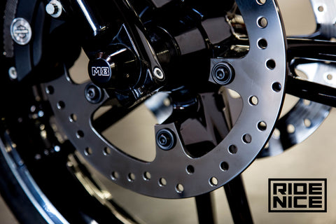 Platinum Black Brake Discs for 2014 & up Harley Touring