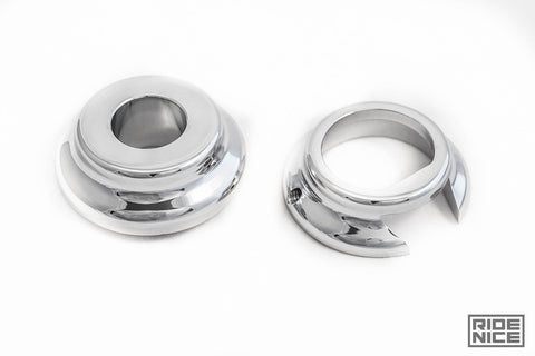 09-13 Harley Front Wheel Spacers for ABS & Non-ABS in Chrome
