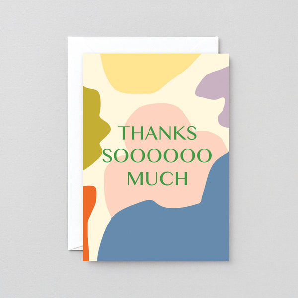 Wrap - 'Thanks Sooooo Much' Greetings Card - shoparo