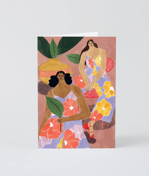 Wrap - 'Floral Girls' Art Card - shoparo