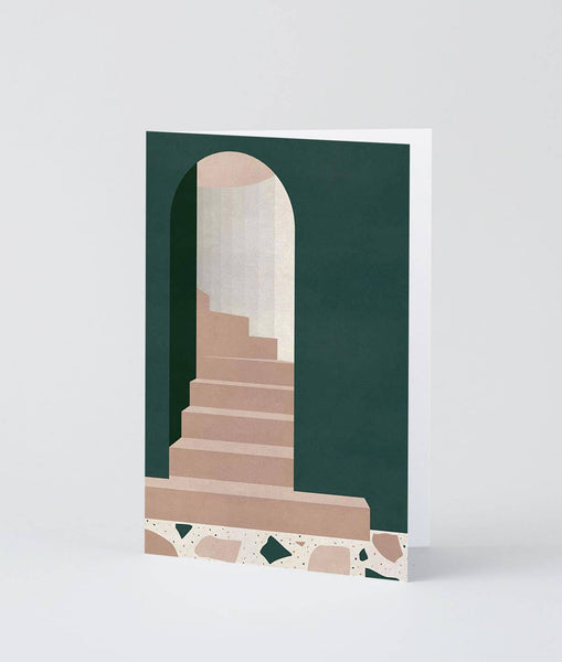 Wrap - 'Green Doorway' Art Card - shoparo