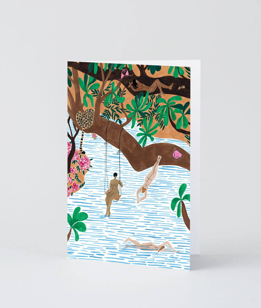 Wrap - 'Jungle Beach' Art Card - shoparo