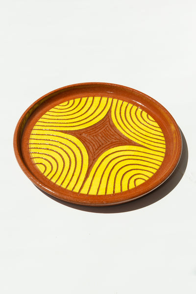 Terracotta Plate - Yellow - shoparo