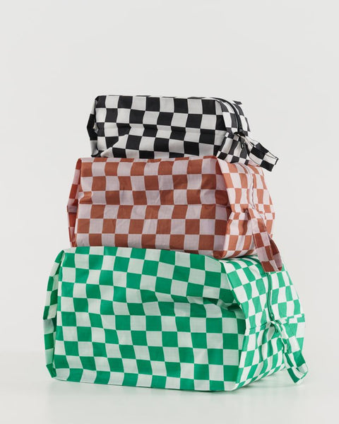 Checkerboard 3D Zip Set - shoparo