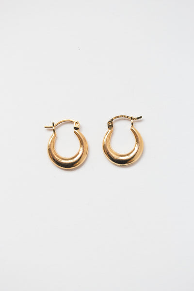 Classic Puffy Hoop Earrings - shoparo