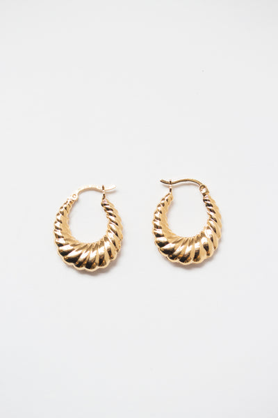 Puffy Hoop Earrings