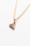 Heart Pendant Necklace with Diamond