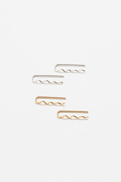 Wavy Staple Earring - shoparo