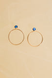 Circle Stone Earrings - Medium - shoparo