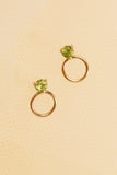 Circle Stone Earrings - Small - shoparo