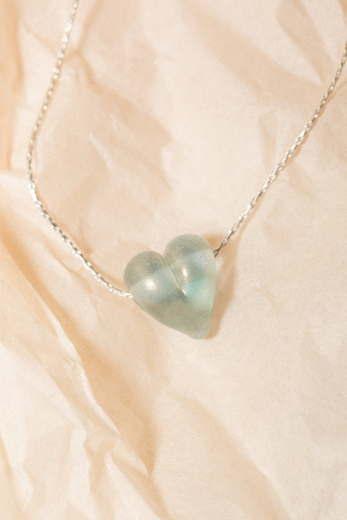 Love Necklace in Blue Shimmer - shoparo