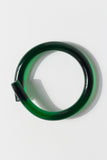 Lucite Rod Bracelet - Bronze & Emerald Green