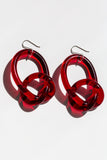 Knotted Earrings in Red - shoparo