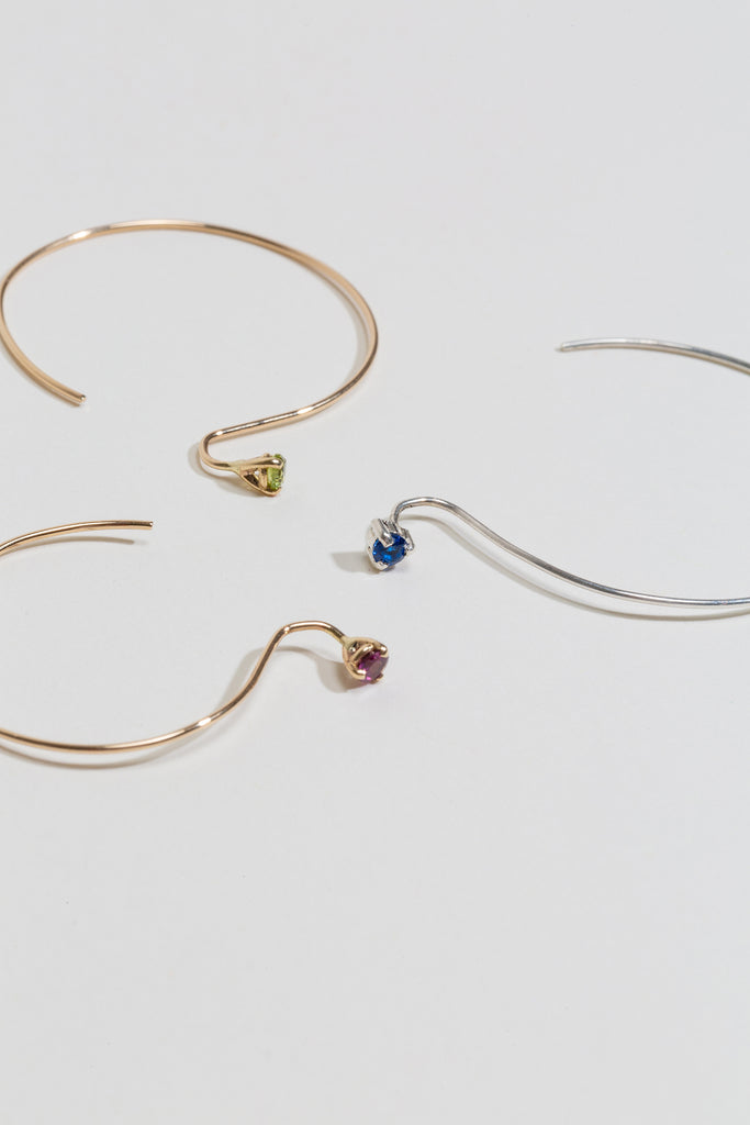 Threader Hoop Earrings - Medium - shoparo