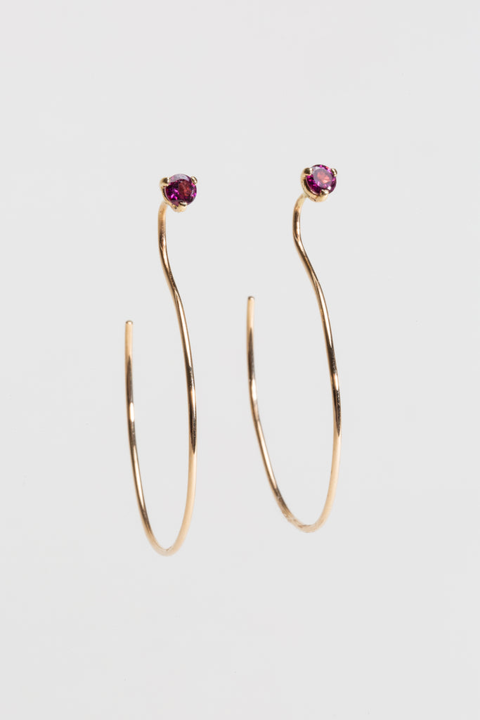 Hoop Threader Earrings - Small - shoparo