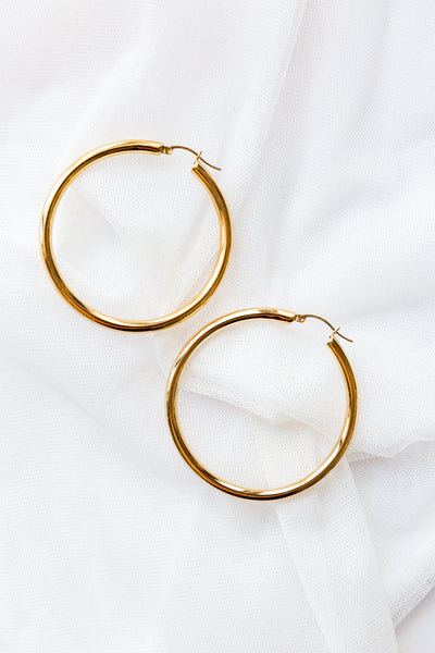 XLarge Hoop Earrings - shoparo