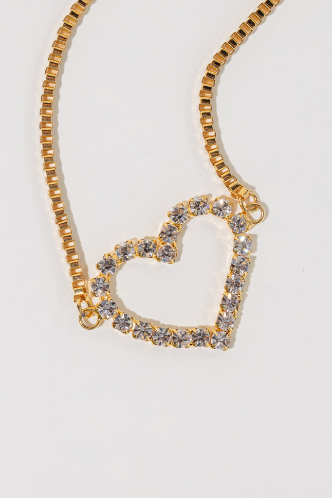 Crystal Heart Necklace - shoparo