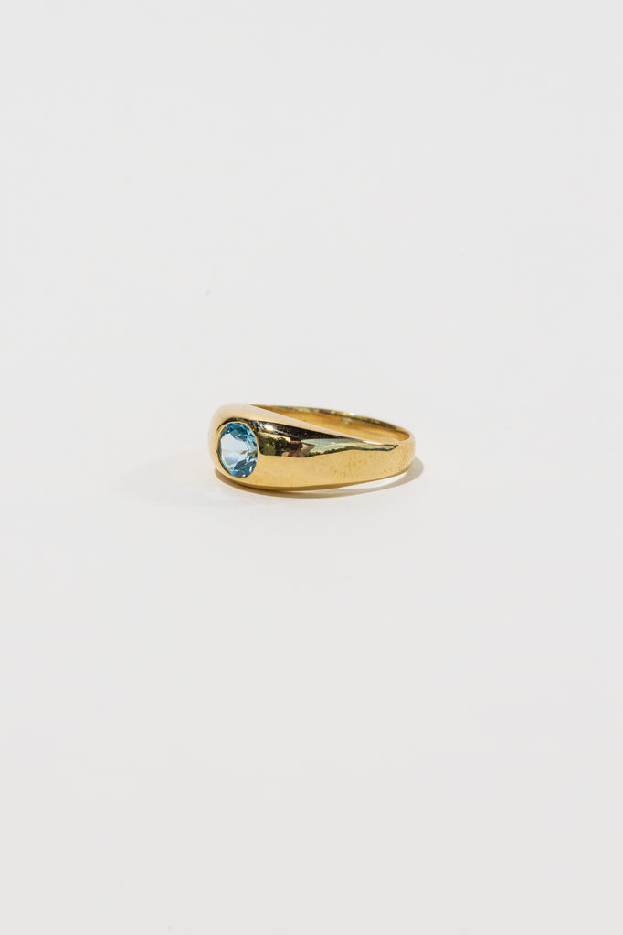 Gypsy Ring - Blue Topaz - shoparo
